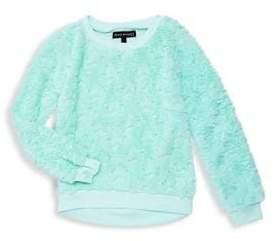 Derek Heart Girl's Faux-Fur Star Sweatshirt