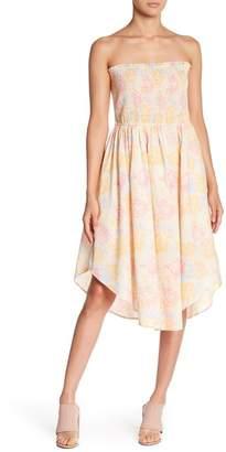Abound Floral Smocked Strapless Dress