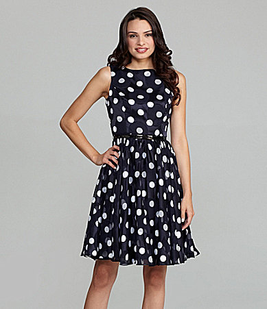 Adrianna Papell Polka-Dot Dress