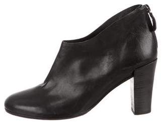 Roberto Del Carlo Round-Toe Leather Booties