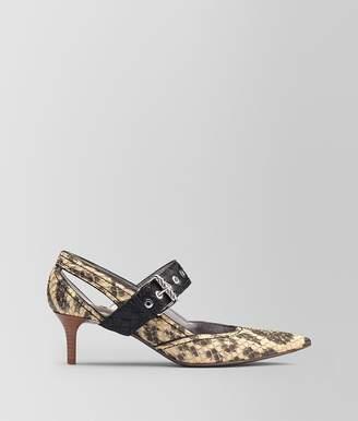 Bottega Veneta Natural Anaconda Kitten Heel