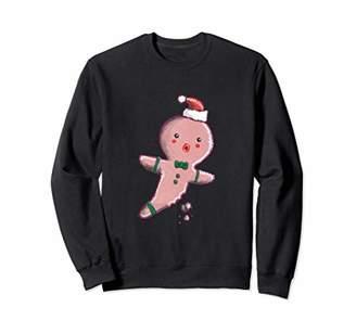 I Can't Feel My Leg Gingerbread Man Holiday Sweatshirt