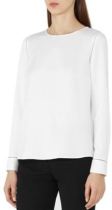 REISS Cecile Button-Back Blouse $220 thestylecure.com