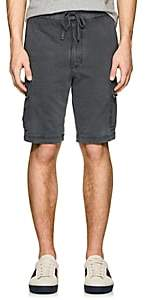 James Perse MEN'S COTTON CARGO SHORTS-GRAY SIZE 5