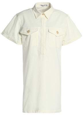 Alexander Wang Stretch-Cotton Gabardine Mini Shirt Dress