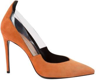 Barbara Bui Orange Suede Heels