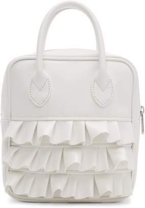 Comme des Garcons White Ruffled Duffle Bag