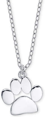 "Unwritten Paw Print 18"" Pendant Necklace in Sterling Silver"