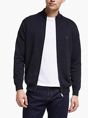Gant Lightweight Cotton Cardigan, Navy