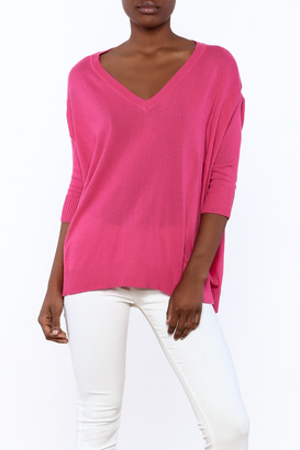 Lovestitch Cozy Fuchsia Sweater $52 thestylecure.com