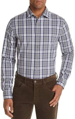 Bloomingdale's The Men's Store at Tri-Color Plaid Classic Fit Shirt - 100% Exclusive