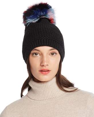 Moncler Kyi Kyi Slouchy Hat with Fox Fur Pom-Pom - 100% Exclusive