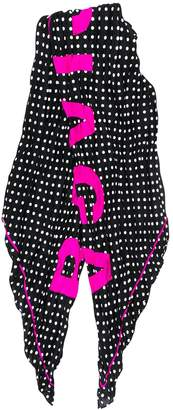 Balenciaga polka dot logo print scarf