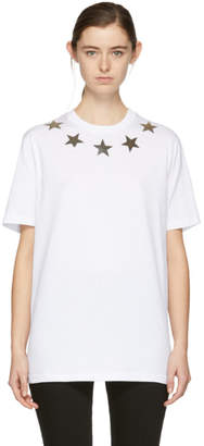 Givenchy White Silver Stars T-Shirt