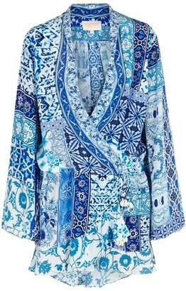 Rococo Sand Oriental Blue Printed Dress