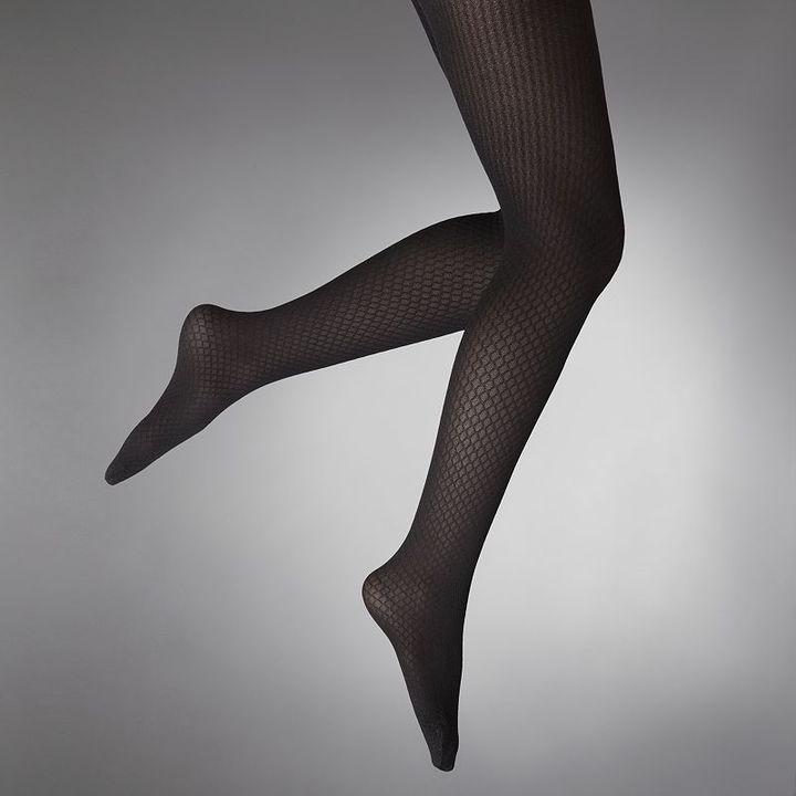 Vera Wang Simply vera diamond mesh tights