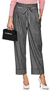 Giorgio Armani Women's Wool-Blend Drawstring Trousers - Gray