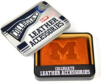 Michigan Wolverines Leather Bifold Wallet