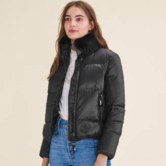 Maje Cropped quilted down jacket