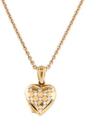 Diamond Heart Locket Pendant Necklace
