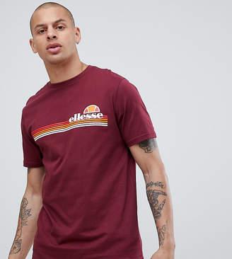 Ellesse Rinaldo Crew Neck T-Shirt In Burgundy