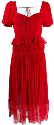 Self-Portrait short-sleeved chiffon midi dress
