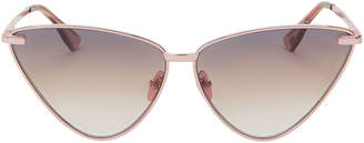 Le Specs Luxe Nero Cat Eye Rose Gold Sunglasses