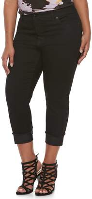 429a03764ad32 ... JLO by Jennifer Lopez Plus Size Black Rockin Capri Pants