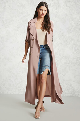 FOREVER 21+ Crepe Woven Trench Coat $49.90 thestylecure.com