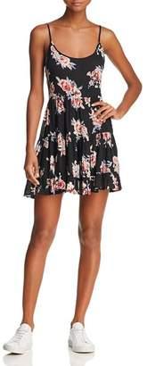 En Creme Floral-Print Mini Dress