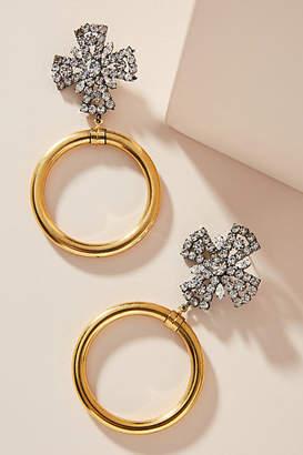 Elizabeth Cole Sienna 24K Gold-Plated Hooped Post Earrings