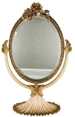 Jay Strongwater Embellished Oval Vanity Mirror