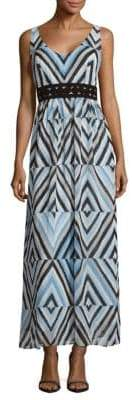 Taylor Zig-Zag Print Tiered Dress