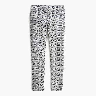 "J.Crew Girls' everyday leggings in ""my favorite color is sparkle"""