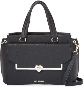 Love Moschino Solid Leather Satchel
