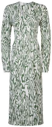 Victoria Beckham Slash Front Midi Dress