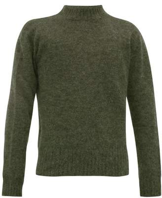 Schnaydermans Schnayderman's - Crew Neck Mohair Blend Sweater - Mens - Green