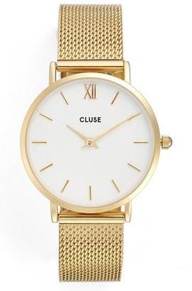 Women's Cluse Minuit Mesh Strap Watch, 33Mm $114 thestylecure.com