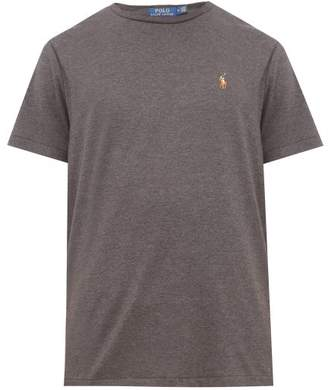 Polo Ralph Lauren Polo Embroidered Cotton Jersey T Shirt - Mens - Grey