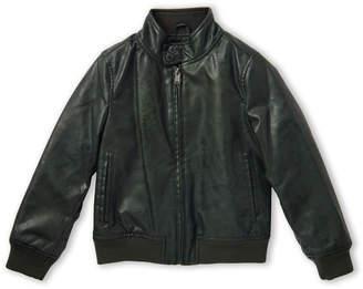 Bomboogie (Boys 4-7) Green Full-Zip Faux Leather Jacket