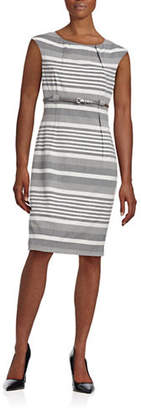 Calvin Klein Mix Striped Sheath Dress