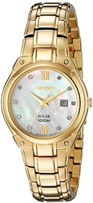 Seiko Women's SUT216 Analog Display Analog Quartz Gold Watch $325 thestylecure.com