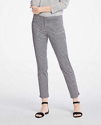 Ann Taylor The Cotton Crop Pant In Gingham - Curvy Fit