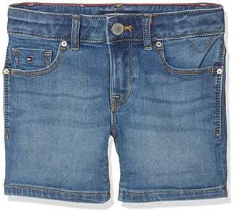 Tommy Hilfiger Girl's Nora Short Climbst Jeans, (Clifton Mid Blue Stretch 911), (Size: 12)