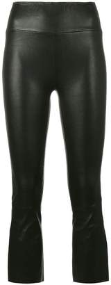 Sprwmn cropped leather trousers