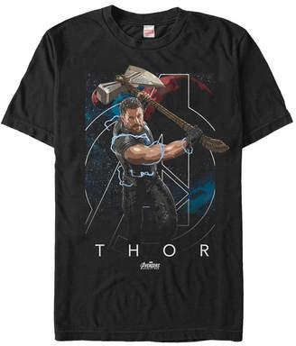 Marvel Men Avengers Infinity War The Mighty Lightning Swing Of Thor Short Sleeve T-Shirt
