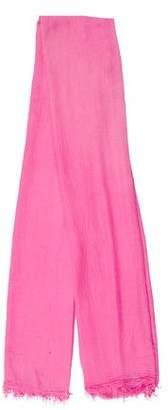 Etoile Isabel Marant Pink Fringe-Trim Scarf