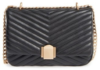 Topshop Quilted Crossbody Bag - Black $48 thestylecure.com