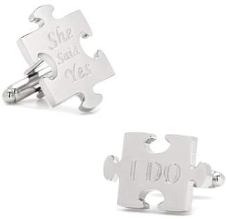 Cufflinks Inc. Cufflinks, Inc. Wedding Puzzle Pieces Cuff Links