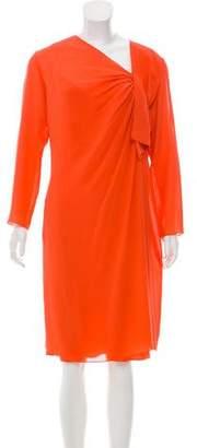 Christian Dior Long Sleeve Silk Dress